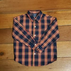 IZOD Boys Long Sleeve Plaid Button Down Shirt